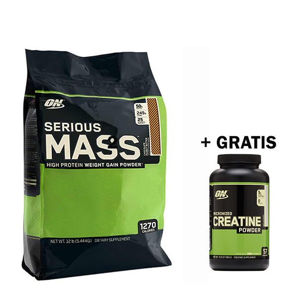 Optimum Serious Mass (5455 g) + Optimum Creatine Powder (300 g) GRATIS