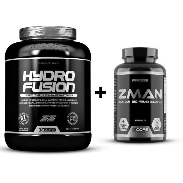 Xcore Hydro Fusion SS + Xcore Z-man (90caps) GRATIS (2000 g)