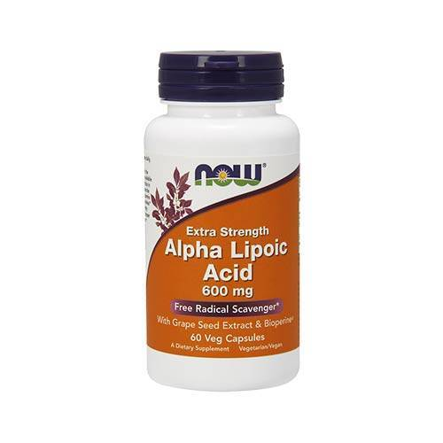 Now Alpha Lipoic Acid 600mg*  (60 kaps)